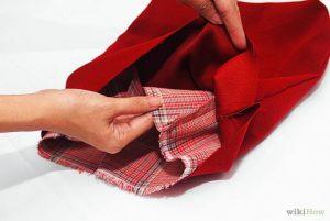Bước 4: May cố định phần lót bên trong và bên ngoài túi