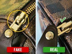 2. Chú ý phần móc cài, dây túi, khóa kéo