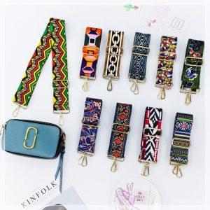 Thiết kế dây đeo túi xách bản to họa tiết thổ cẩm