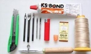Trước khi thực hiện cách may túi xách da, cần chuẩn bị nguyên liệu sau: