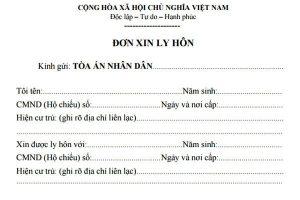 Mẫu đơn Cộng hòa Xã hội Chủ nghĩa Việt Nam