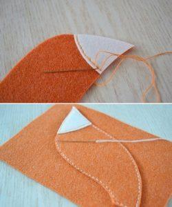 Cách làm túi xách bằng vải dạ mini cho dế yêu như sau: