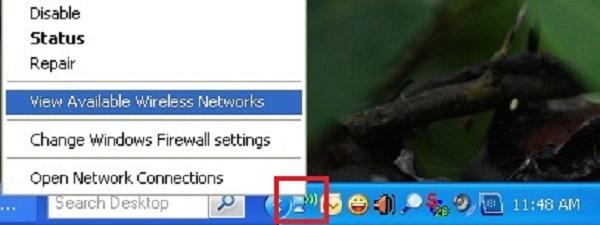 Cách bắt wifi cho máy tính bànwin XP