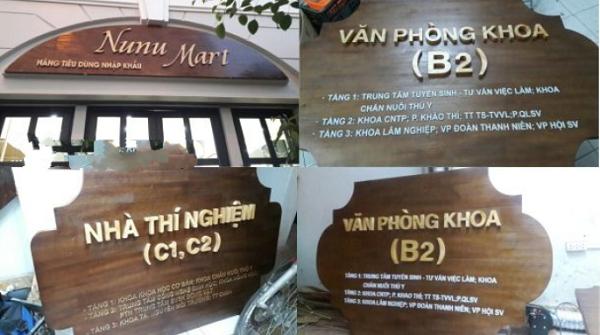 Cắt chữ gỗ tại Hà Nội giá rẻ lấy ngay bằng máy laser