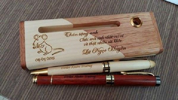 Tạo điểm nhấn độc đáo với những chiếc bút gỗ