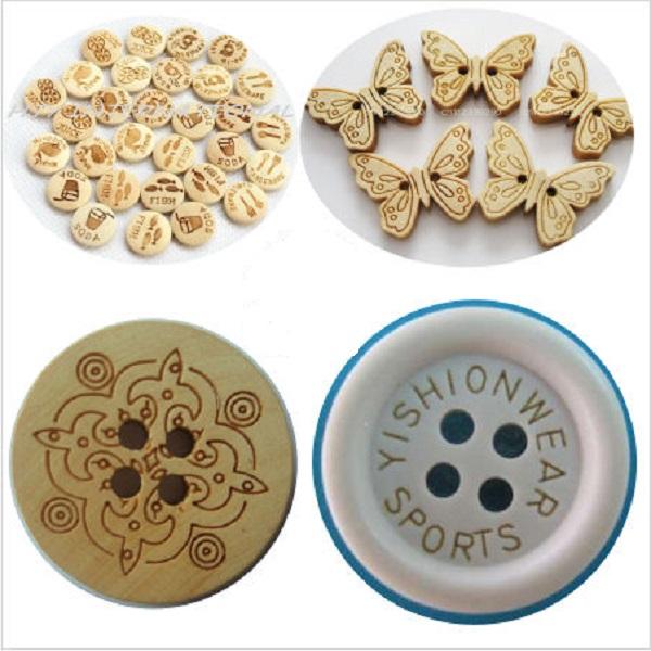 In laser, khắc nút áo bằng công nghệ khắc laser giá rẻ tại Hà Nội