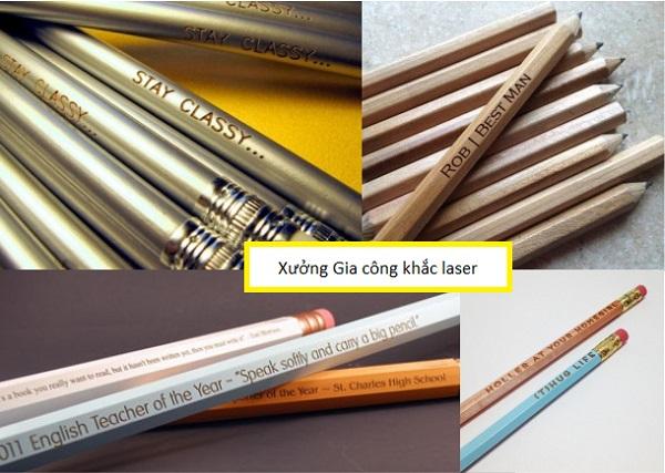 Khắc bút chì bằng laser giá rẻ lấy ngay ở đâu tại Hà Nội