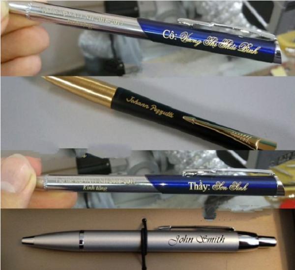 Khắc chữ lên bút máy bằng công nghệ laser ở đâu