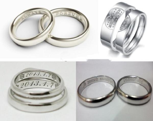 Khắc chữ lên nhẫn bạc tại Hà Nội giá rẻ lấy ngay