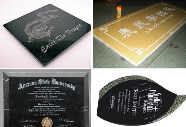 Khắc đá, khắc đá quý bằng công nghệ khắc laser giá rẻ tại Hà Nội
