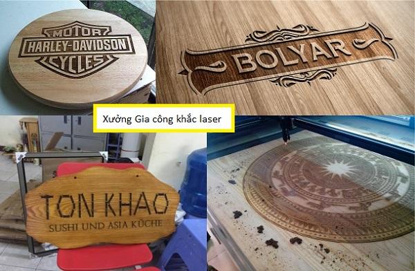 Khắc laser trên gỗ giá rẻ lấy ngay tại Hà Nội