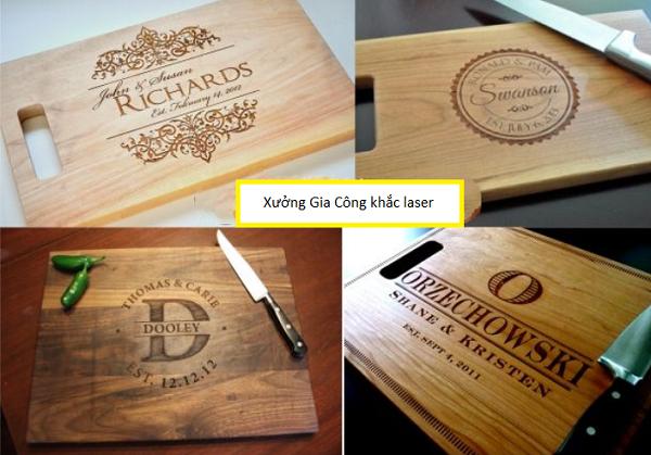 Khắc logo lên trên gỗ giá rẻ lấy ngay tại Hà Nội