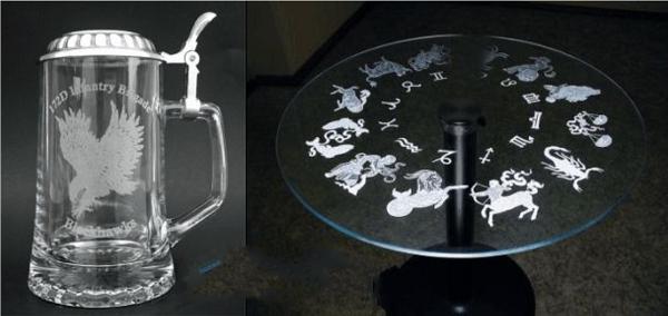 Khắc thủy tinh, khắc kính bằng tia laser giá rẻ tại Hà Nội