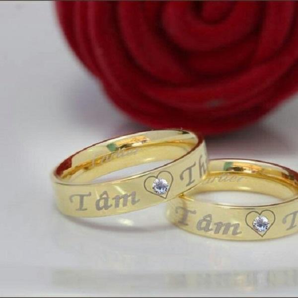 Làm nhẫn cưới khắc tên ý nghĩa