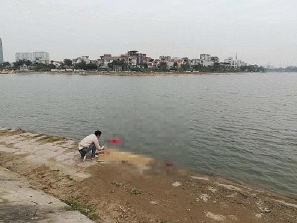 Phát hiện thi thể nổi ở hồ Định Công