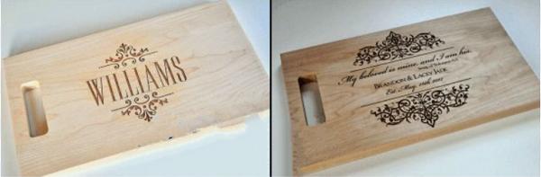 In khắc thớt gỗ, thớt nhựa bằng công nghệ laser giá rẻ