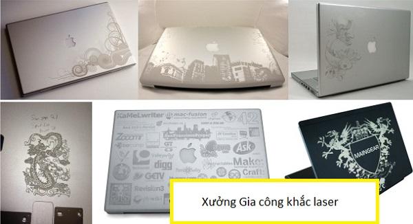 Khắc laser trên vỏ laptop, vỏ ipad máy tính bảng lấy ngay tại Hà Nội