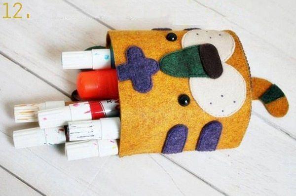 Tự tay may túi xách bằng vải dạ handmade xinh xắn