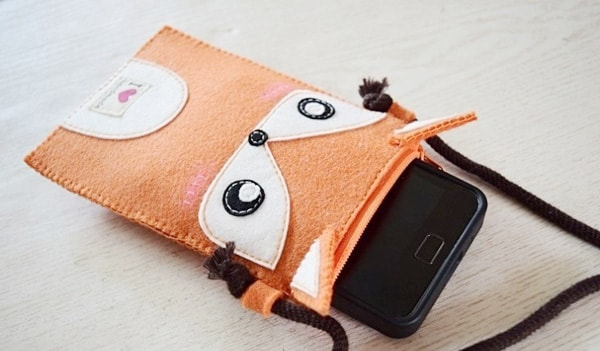May túi đựng điện thoại chú cáo dễ thương cho riêng mình